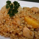 arroz con trigo y pollo