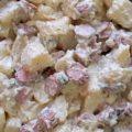 ensalada alemana de salchichas